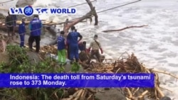 VOA60 World PM - Tsunami Victims Fear Another Eruption in Indonesia