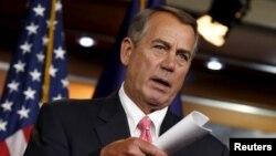 FILE - U.S. House Speaker John Boehner speaks at a news conference in Washington March 19, 2015.