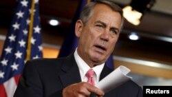 El presidente de la Cámara de Representantes, John Boehner, dijo estar optimista sobre la aprobación del presupuesto.