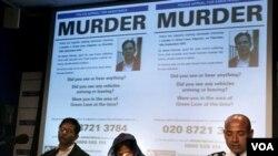 Polisi Inggris melakukan konferensi pers soal penangkapan tersangka pembunuh politisi Imran Farooq, di London Kamis, 9 Desember 2010.