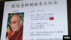 國民黨立委陳學聖記者會上展示的達賴喇嘛圖卡