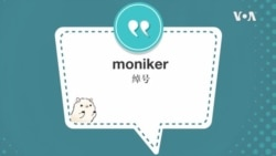 学个词--moniker