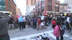 تظاهرات در بالتیمور مریلند در اعتراض به مرگ یک مرد سیاه پوست