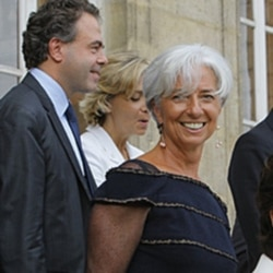 Christine Lagarde in Paris on Wednesday, a day after the IMF appointed her as its next managing director