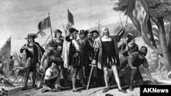 Xristofor Kolumbning Amerikaga ilk tashrifi aks etgan surat