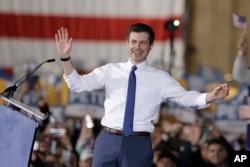 미국 인디애나주 사우스벤드의 시장인 피트 부티지지 후보가 14일 미 대선 공식 출마를 선언했다.