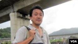日本大報《朝日新聞》駐上海記者奧寺淳 (奧寺淳提供)