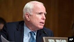 Thượng nghị sĩ John McCain, Chủ tịch Ủy ban Quân vụ Thượng viện Hoa Kỳ.