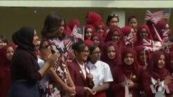 奥巴马夫人启动两亿美元女孩教育项目