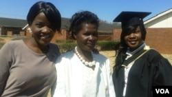 One of the capped graduands with relatives and friends at Chinhoyi University. (Photo/Arthur Chigoriwa)