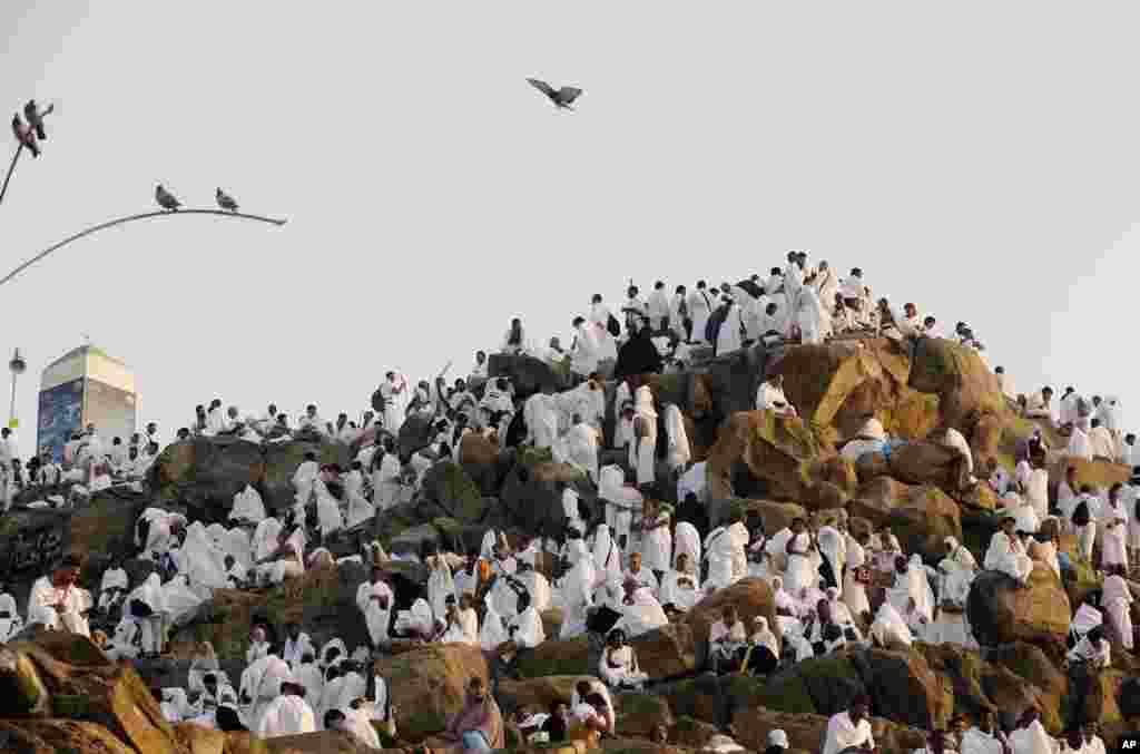 مناسک حج کی ادائیگی اسلامی مہینے کی آٹھ تاریخ سے 12 تاریخ تک جاری رہتی ہے۔ اس دوران عازمین حج میدان عرفات میں جمع ہوتے ہیں جو مکہ کے قریب واقع ہے۔