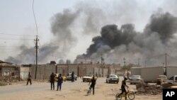 عکس آرشیوی از یک انفجار در بغداد