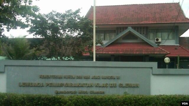 Lembaga Pemasyarakatan Sleman, Yogyakarta, Indonesia (VOA/Nurhadi).