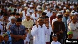 انڈونیشیا میں نماز عید کا ایک منظر