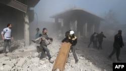 غوطه که تحت کنترل مخالفان اسد اسد، در دو هفته اخیر بارها هدف حمله دولت سوریه بود.