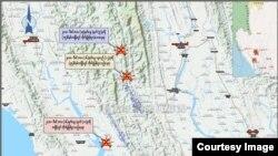 rakhine AA army conflict map (ရကၡိဳင့္တပ္မေတာ္ - သတင္းႏွင့္ ျပန္ၾကားေရးဌာန)