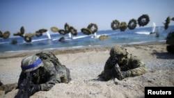 美國和南韓進行的兩棲登陸演習