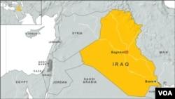 Peta wilayah Irak (Foto: dok).