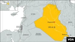 Peta wilayah Irak.