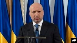 FILE - Ukraine's acting President Oleksandr Turchynov