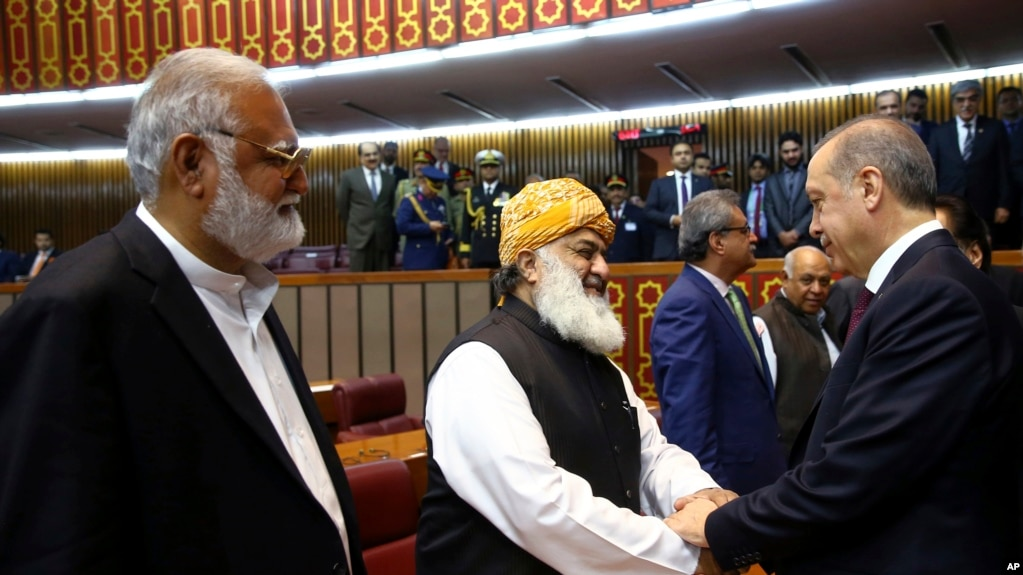 Turkish leader vows to bring us based opposition cleric to justice pakistani legislators greet turkeys president recep tayyip erdogan right after his address at the m4hsunfo