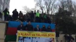 """Əli Kərimlinin """"Talana son!"""" mitinqində çıxışı"""
