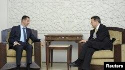 Maurer ile Esad'ın Görüşmesi