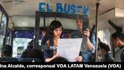 El Bus TV Venezuela brinda noticias a bordo de un autobús de servicio público