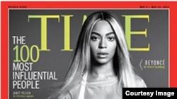 Beyonce di sampul majalah Time edisi '100 Orang Paling Berpengaruh'.