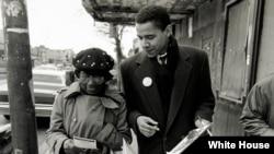 Bivši predsednik Obama u vreme kada je bio organizator zajednice u Čikagu.