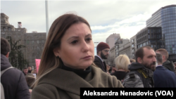 Poslanica Demokratske stranke (DS) u Skupštini Srbije Aleksandra Jerkov, Foto: VOA