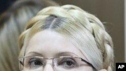 Former Ukrainian Prime Minister Yulia Tymoshenko seen during her trial, at the Pecherskiy District Court in Kyiv, Ukraine, Oct. 11, 2011.