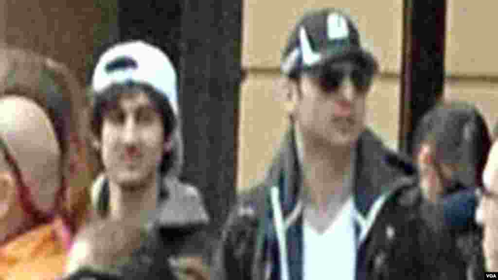 Manhunt underway for second Boston bombiing suspect Dzhokhar Tsarnaev.