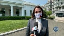 Світлана Тихановська зустрілася із президентом США Джо Байденом у Білому Домі. Відео