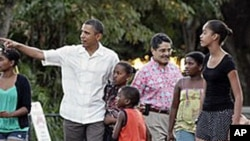 President Obama on vacation in Hawaii