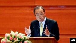 Sekretaris Jenderal PBB Ban Ki-moon di Naypyitaw, Myanmar, 31 Agustus 2016 (Foto: dok).