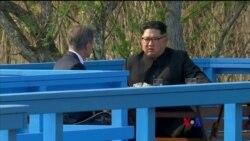2018-04-27 美國之音視頻新聞: 南北韓領袖在峰會上表現親切