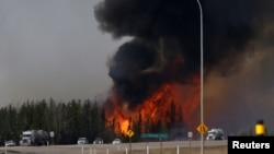 L'incendie de Fort McMurray, Alberta, Canada, M6 mai 2016.