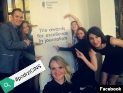 Ekipa CINS-a u isčekivanju proglašenja laureata (foto: CINS Facebook stranica)