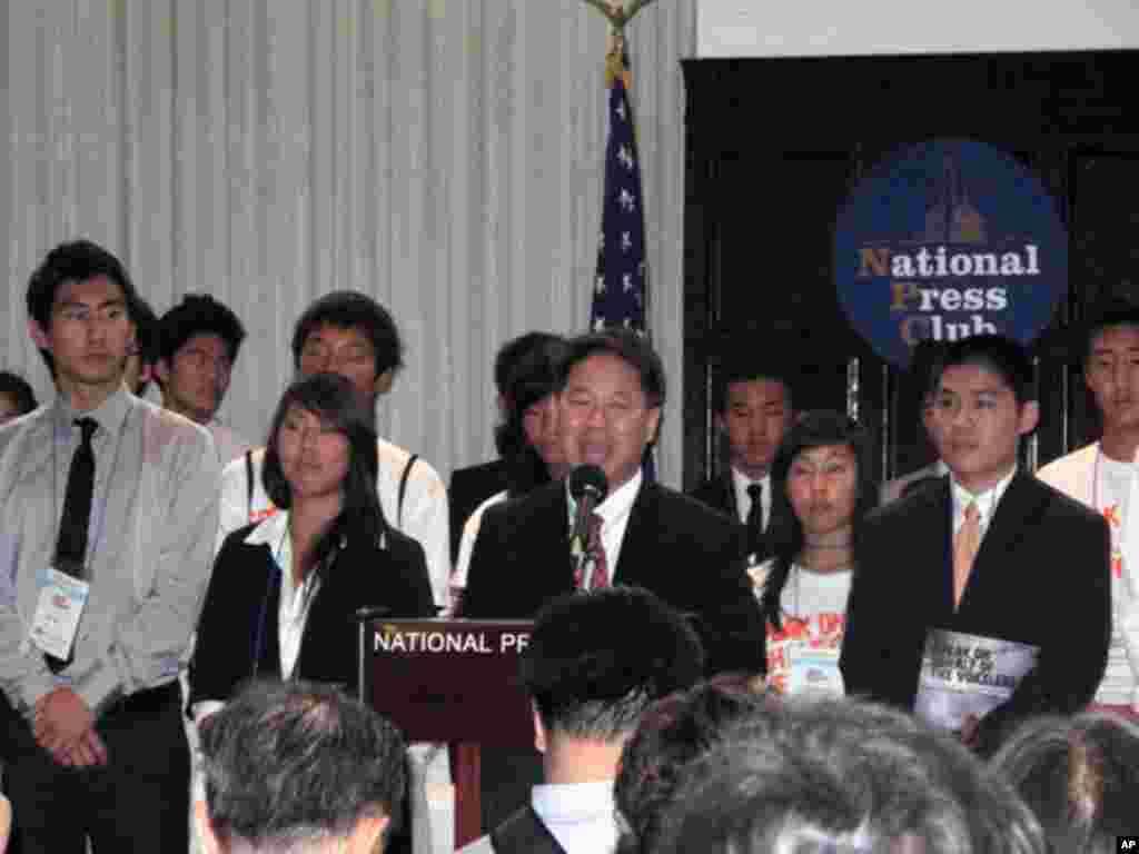 북한의 자유를 촉구하는 한인 2세 대표들