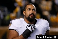 John Urschel played football for the Baltimore Ravens for three years. He announced his retirement on July 27.