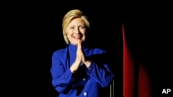 美国民主党总统参选人希拉里·克林顿。