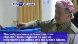 VOA60 World PM - Iraqi Kurds Overwhelmingly Approve Independence in Referendum