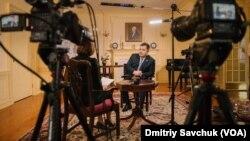 Міністр оборони України Степан Полторак під час інтерв'ю