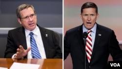 مایکل فلین (راست) و سناتور مارک کرک از دولت اوباما انتقاد کردند.