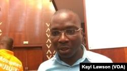 Gbati Faré, à Lomé, le 15 juillet 2017/ (VOA/Kayi Lawson)