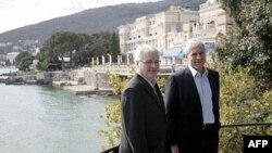 Predsednici Hrvatske i Srbije, Ivo Josipović i Boris Tadić, u Opatiji