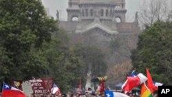احتجاج یک میلیون محصل در چیلی