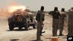 Lực lượng an ninh Iraq và dân quân Shia chiến đấu chống lại nhóm Nhà nước Hồi giáo ở Saqlawiyah, Fallujah.