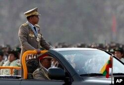 Tổng tư lệnh quân đội Myanmar Min Aung Hlaing.